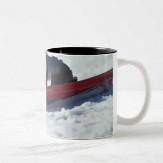 Snowboarding 4 Two-Tone coffee mug