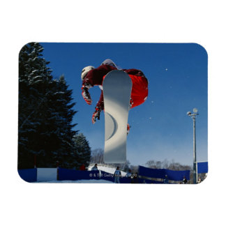 Snowboarding 5 rectangular photo magnet