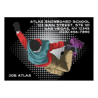 Snowboarding 7 business card