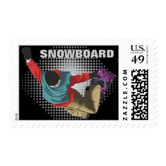 Snowboarding 7 postage stamp