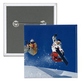 Snowboarding 8 pinback button