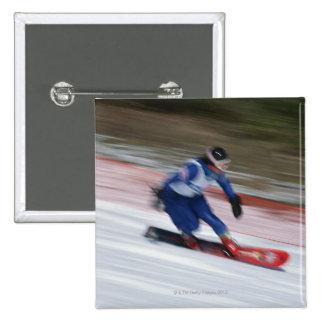 Snowboarding 9 pinback button