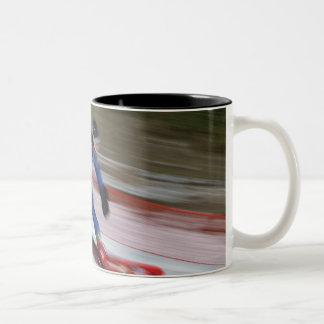 Snowboarding 9 Two-Tone coffee mug