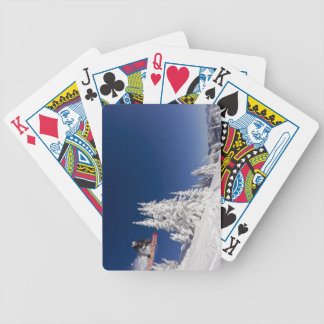 Snowboarding action at Whitefish Mountain Resort Bicycle Playing Cards