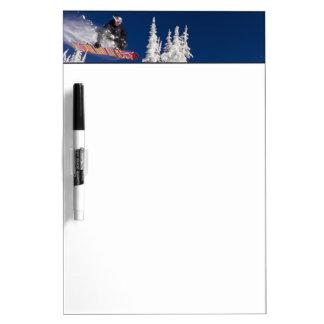 Snowboarding action at Whitefish Mountain Resort Dry-Erase Boards