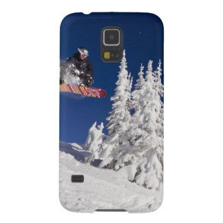 Snowboarding action at Whitefish Mountain Resort Galaxy S5 Cover