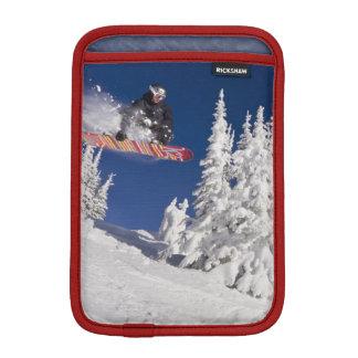 Snowboarding action at Whitefish Mountain Resort iPad Mini Sleeves