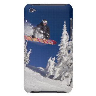Snowboarding action at Whitefish Mountain Resort iPod Touch Case