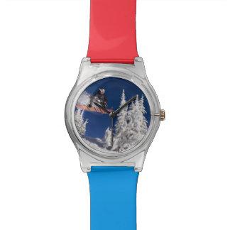 Snowboarding action at Whitefish Mountain Resort Wristwatch