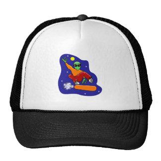 Snowboarding Alien Trucker Hat