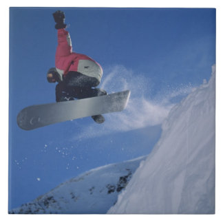 Snowboarding at Snowbird Resort, Utah (MR) Ceramic Tile