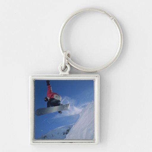Snowboarding at Snowbird Resort, Utah (MR) Key Chains