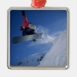 Snowboarding at Snowbird Resort, Utah (MR) Christmas Ornament