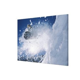 Snowboarding at Snowbird Resort, Wasatch Canvas Print