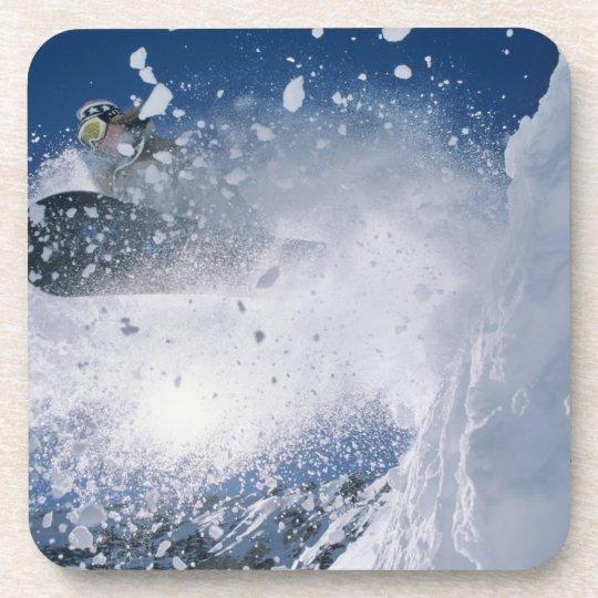 Snowboarding at Snowbird Resort, Wasatch Drink Coaster