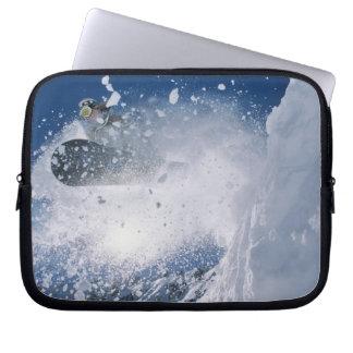 Snowboarding at Snowbird Resort, Wasatch Laptop Computer Sleeve