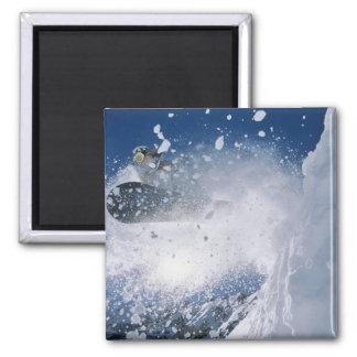 Snowboarding at Snowbird Resort, Wasatch Magnet