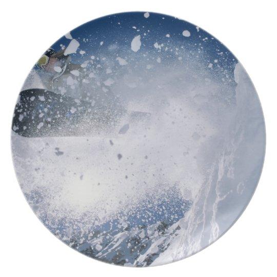 Snowboarding at Snowbird Resort, Wasatch Melamine Plate