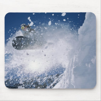 Snowboarding at Snowbird Resort, Wasatch Mouse Pad