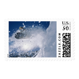 Snowboarding at Snowbird Resort, Wasatch Postage
