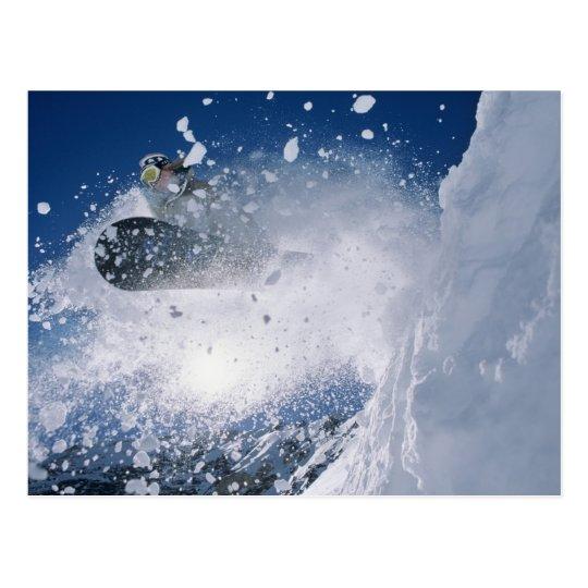 Snowboarding at Snowbird Resort, Wasatch Postcard