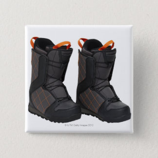 Snowboarding boots on white background, cut out button