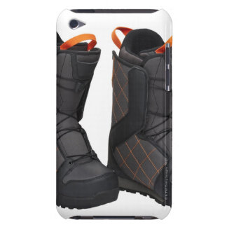 Snowboarding boots on white background, cut out iPod touch Case-Mate case