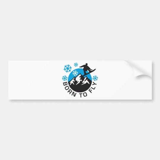snowboarding bumper sticker