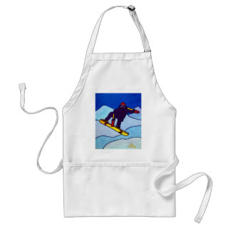 Snowboarding by Piliero Adult Apron
