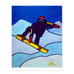 Snowboarding by Piliero Postcard