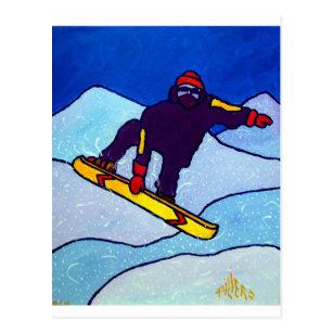Snowboarding by Piliero Postcard