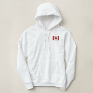 Snowboarding Canada Canadian Winter Sports Embroidered Hoodie