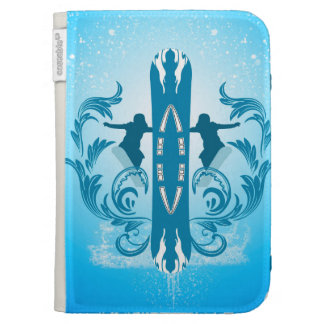 Snowboarding Kindle Covers