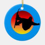 snowboarding christmas tree ornaments
