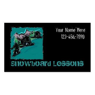Snowboarding customizable business card