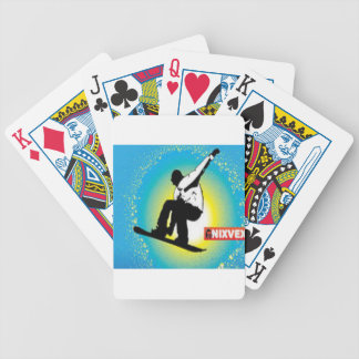 Snowboarding design poker deck