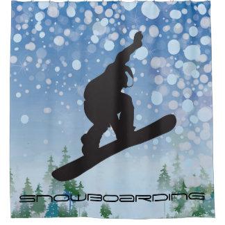 Snowboarding Design Shower Curtain