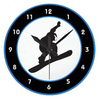 Snowboarding Design Wall Clock