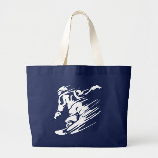 Snowboarding Extreme Sport Large Tote Bag