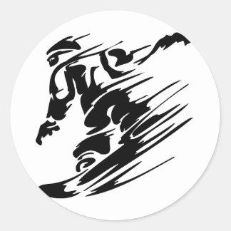 Snowboarding Extreme Sports Round Sticker