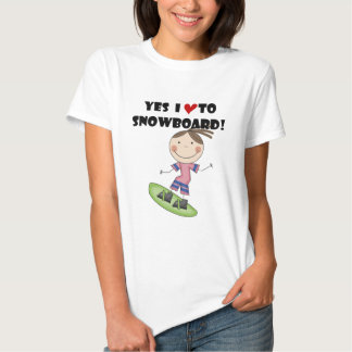 Snowboarding Girl Tshirts and Gifts