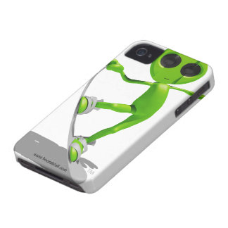 Snowboarding Green Alien iPhone 4/4s Case