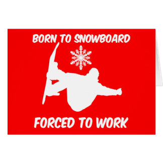 Snowboarding Greeting Cards