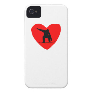 Snowboarding Heart iPhone 4 Case-Mate Cases