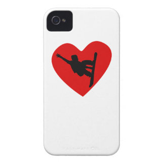Snowboarding Heart iPhone 4 Cases