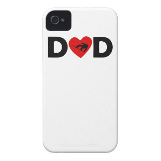 Snowboarding Heart Dad iPhone 4 Cases