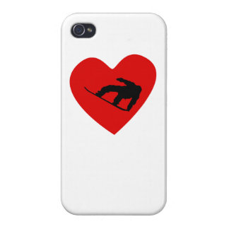 Snowboarding Heart iPhone 4/4S Covers