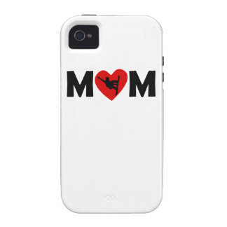 Snowboarding Heart Mom iPhone 4/4S Cover