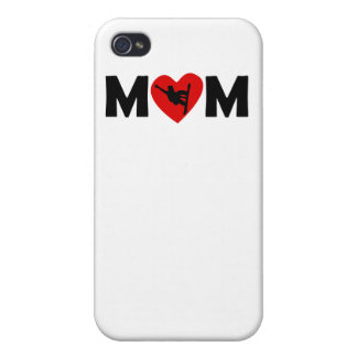 Snowboarding Heart Mom iPhone 4 Cases