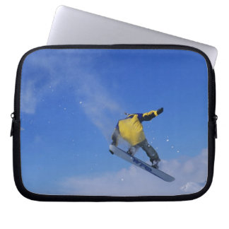 Snowboarding in Grizzly Gulch, Little Cottonwood Computer Sleeve